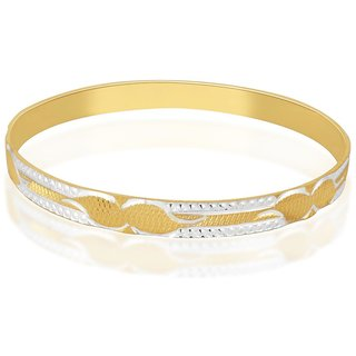 Vivaaha Rhodium Plated Yellow Sterling Silver Bangle For Women-GF24032
