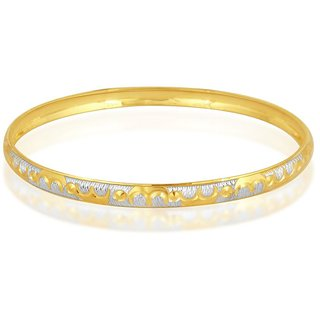 Vivaaha Rhodium Plated Yellow Sterling Silver Bangle For Women-GF24045