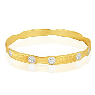 Vivaaha Rhodium Plated Yellow Sterling Silver Bangle For Women-GF24056