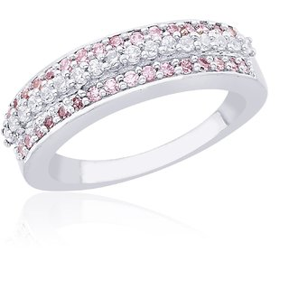 Lucera Rhodium Plated WhiteSterling Silver Ring For Women-RF4973