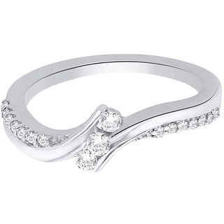 Lucera Rhodium Plated WhiteSterling Silver Ring For Women-RF5011
