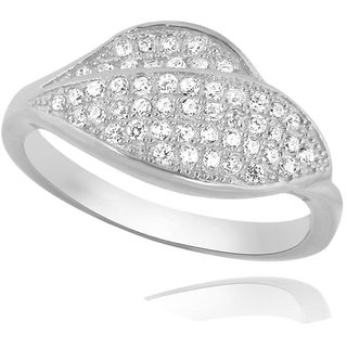 LUCERA Rhodium Plated WhiteSterling Silver Ring For Women-RF21793W