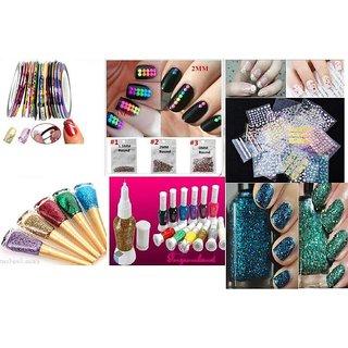 Buy Nail Art Kit Combo Complete Set For Birthday Gift Girls Women