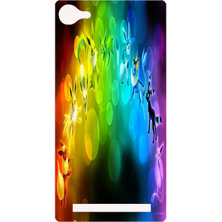 Amagav Printed Back Case Cover for Lava A76 150LavaA76