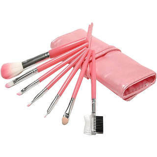 Futaba Portable Seven Makeup Brushes Case - Pink