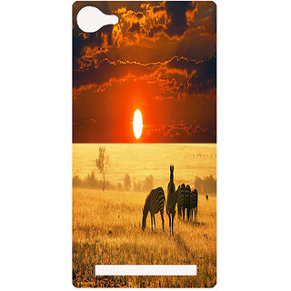 Amagav Printed Back Case Cover for Lava A76 66LavaA76