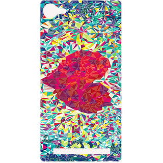 Amagav Printed Back Case Cover for Lyf Flame 8 198-LfyFlame8
