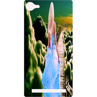 Amagav Printed Back Case Cover for Lyf Flame 8 273-LfyFlame8