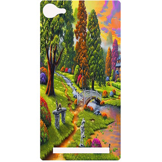 Amagav Printed Back Case Cover for Lyf Flame 8 95-LfyFlame8