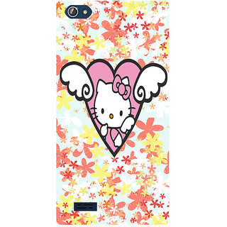 Amagav Printed Back Case Cover for Lava X50 133LavaX50