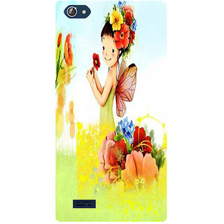 Amagav Printed Back Case Cover for Lava X50 136LavaX50