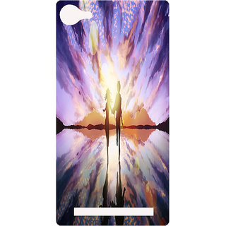 Amagav Printed Back Case Cover for Lyf Flame 8 142-LfyFlame8