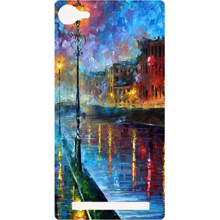 Amagav Printed Back Case Cover for Lyf Flame 8 563-LfyFlame8