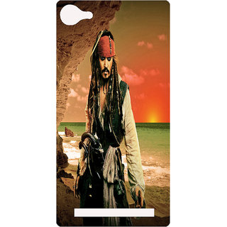 Amagav Printed Back Case Cover for Lyf Flame 8 58-LfyFlame8