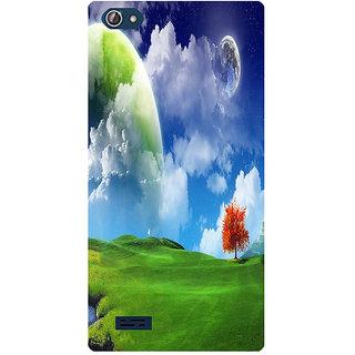 Amagav Printed Back Case Cover for Lava X50 283LavaX50