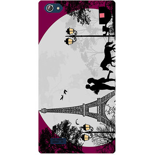 Amagav Printed Back Case Cover for Lava X50 414LavaX50