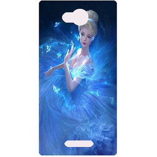 Amagav Printed Back Case Cover for Lava A68 1LavaA68
