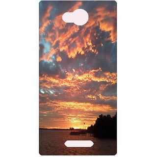 Amagav Printed Back Case Cover for Lava A68 192LavaA68