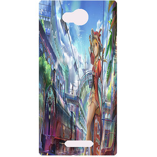 Amagav Printed Back Case Cover for Lava A68 52LavaA68