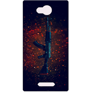Amagav Printed Back Case Cover for Lava A59 461LavaA59