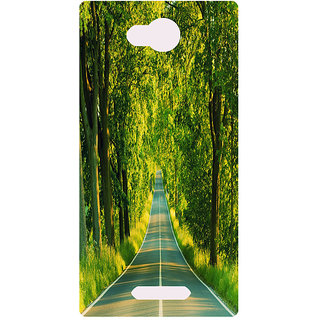 Amagav Printed Back Case Cover for Micromax Canvas Spark 3 64MmSpark3