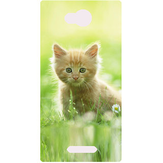 Amagav Printed Back Case Cover for Lava A59 671LavaA59