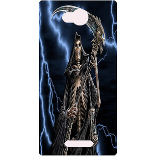 Amagav Printed Back Case Cover for Lava A59 42LavaA59