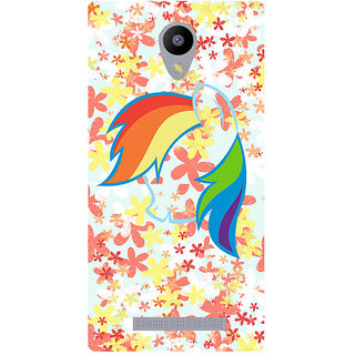Amagav Printed Back Case Cover for Lava A48 130LavaA48