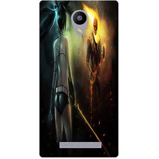 Amagav Printed Back Case Cover for Lava A48 160LavaA48