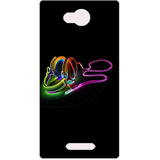 Amagav Printed Back Case Cover for Lava A59 347LavaA59