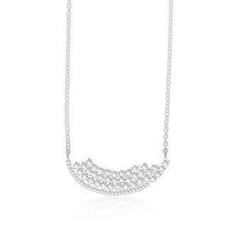 Taraash 925 Sterling Silver Cz Neckchain For Women NK1479R