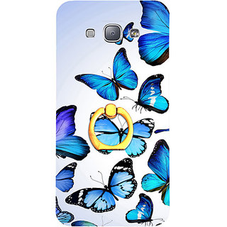 Casotec Flying Butterfly Colorful Design 3D Printed Hard Back Case Cover for Samsung Galaxy A8