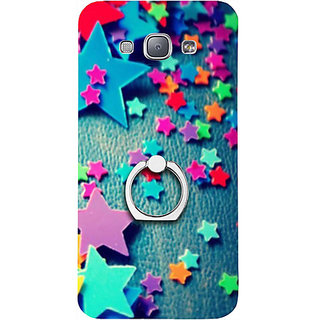 Casotec Colorful Stars Design 3D Printed Hard Back Case Cover for Samsung Galaxy A8