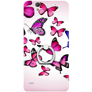 Casotec Flying Butterfly Colorful Design 3D Printed Hard Back Case Cover for Sony Xperia C4