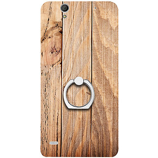 Casotec Wooden Texture Design 3D Printed Hard Back Case Cover for Sony Xperia C4