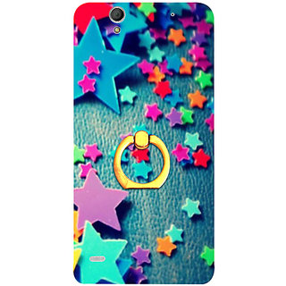 Casotec Colorful Stars Design 3D Printed Hard Back Case Cover for Sony Xperia C4