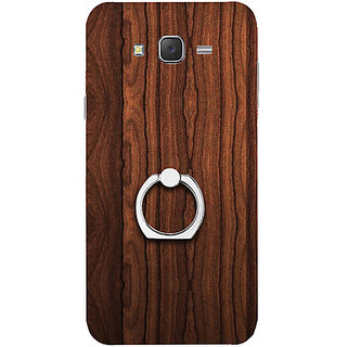 Casotec Wooden Texture Design 3D Printed Hard Back Case Cover for Samsung Galaxy J5