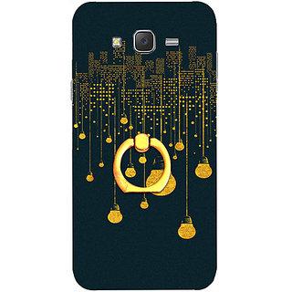 Casotec City Light Pattern Design 3D Printed Hard Back Case Cover for Samsung Galaxy J5