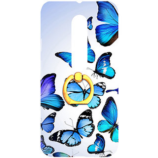 Casotec Flying Butterfly Colorful Design 3D Printed Hard Back Case Cover for Motorola Moto G 3rd Generation