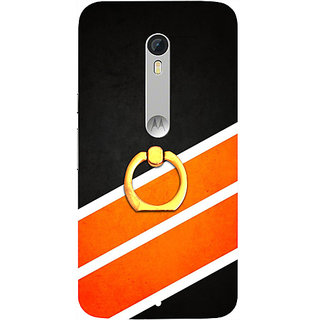 Casotec Abstract Pattern Design 3D Printed Hard Back Case Cover for Motorola Moto X Play