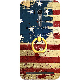 Casotec USA Flag Design 3D Printed Hard Back Case Cover for Asus Zenfone Selfie ZD551KL