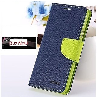 First 4 Oppo Neo 5 Flip Cover Mercury Case ( Blue & Green)