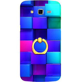 Casotec Blocks Rainbow 3D Graphics Design 3D Printed Hard Back Case Cover for Samsung Galaxy Grand 2 G7102 / G7105