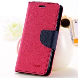 First 4 Oppo Neo 7 Flip Cover Mercury Case ( Pink & Blue)
