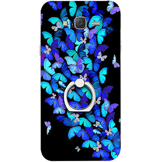 Casotec Butterfly pattern Design 3D Printed Hard Back Case Cover for Samsung Galaxy J7