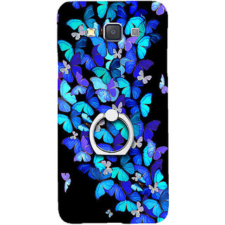 Casotec Butterfly pattern Design 3D Printed Hard Back Case Cover for Samsung Galaxy A5