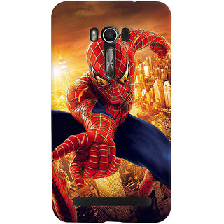 ColourCrust Asus Zenfone Go Mobile Phone Back Cover With Spiderman - Durable Matte Finish Hard Plastic Slim Case