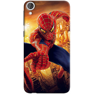 ColourCrust HTC Desire 820 Mobile Phone Back Cover With Spiderman - Durable Matte Finish Hard Plastic Slim Case