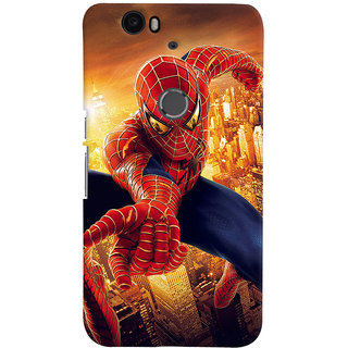 ColourCrust Huawei Google Nexus 6P Mobile Phone Back Cover With Spiderman - Durable Matte Finish Hard Plastic Slim Case