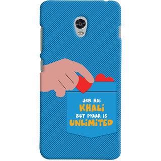 ColourCrust Lenovo Vibe P1 Mobile Phone Back Cover With Jeb he Khaali - Durable Matte Finish Hard Plastic Slim Case